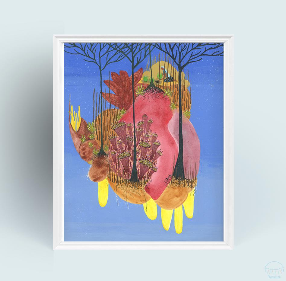midnight_gardener_print_8x10_framed_M3_yanuary_navarro